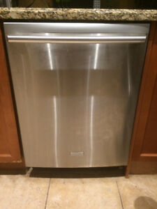 Fairly New Stainless steel Electrolux dishwasher. As is.