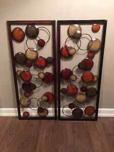 metal wall art (2 pieces sold together only $60 total cost )