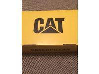 Steel toe CAT boots size 6