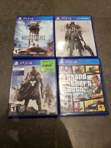PS4 Video Games - Star Wars Battlefront/Bloodborne/Destiny/GTA V