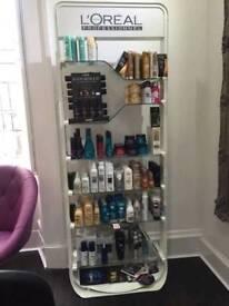 Professional loreal retail shelfes
