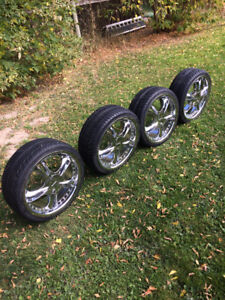 4/18 inch forte rims on 215/35zr 18 inch tires !!!