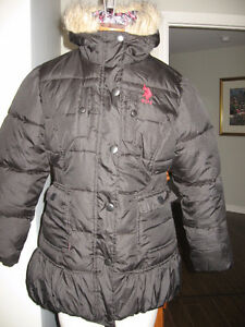 Hardly worn GIRLS US POLO ASSN puffer skirted coat 12-14