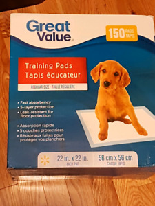 Great Value Puppy Pads  (Benefits SPCA)