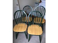 4 sturdy dining chairs