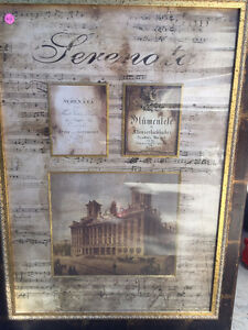 "Music/Beethoven ""Serenata"" picture & frame"