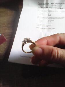 14kt yellow gold ladies cast engagement ring