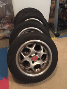 VW Summer Tires on Rims