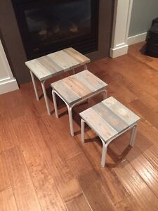 Set Of Three Nesting Tables- Indoor/Outdoor