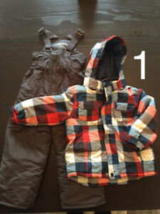 Boys Size 4 Snow Suit and Coats perfect condition