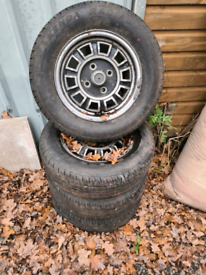Set of Alloy wheels for MG