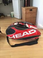 2 tennis racquets + tennis bag for sale !