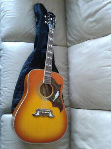 Gibson-Epiphone Dove Pro Acoustic Electric Guitar & Soft Case