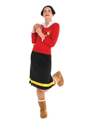 Adult Popeye Olive Oyl Oil Fancy Dress Costume Ladies Womens Female BN (Olive Kostüm Popeye)