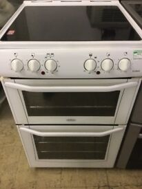 Belling White Electric Cooker 55cm wide