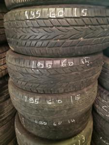 4x summer tires 195/60/15 Yokohama 8/32