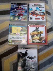 Five PS3 games