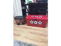 NEXT FOOTBALL STORAGE BOX & PIRATE STORAGE BOX