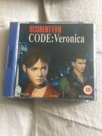 Sega Dreamcast game resident evil code name Veronica