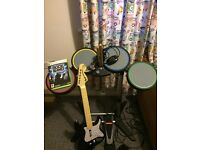 Xbox 360 rock band guitar hero