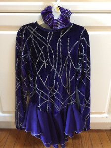 Jerry's purple and silver girls size 12/14 skating dress