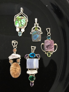 Large, Medium and Small Sterling Silver Pendants