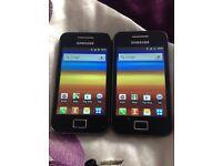 2x Samsung galaxy ace both unlock
