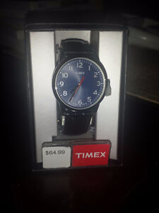 Brand new Timex Blue dial Easy reader watch genuine leather Cambridge Kitchener Area image 2