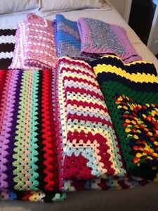 Hand crocheted Afghans by Sharon
