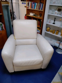 Reclining leather armchair tclri 46646