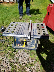 Table saw and grinder