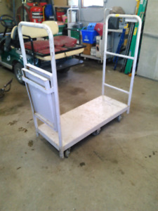 Metal shop cart.