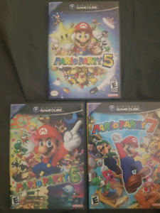Mario Party 5, 6 & 7 (GCN) + Microphone