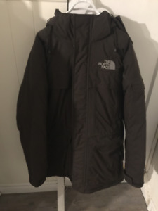 MEN'S BROWN NORTH FACE JACKET - SMALL