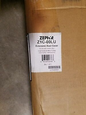 Zephyr Z1C-00LU Duct Cover Extension for Luce Series Wall Mounted Range Hoods Wall Mounted Duct Covers