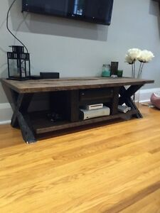 Custom tv table with matching coffee and side tables  Peterborough Peterborough Area image 1