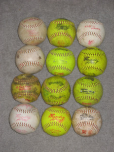 (1) Dozen Used Softballs