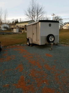 Wells Cargo 10 × 6 covered trailer