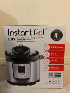 Instant Pot® Lux 6-in-1 Multi-Use Programmable Pressure Cooker,