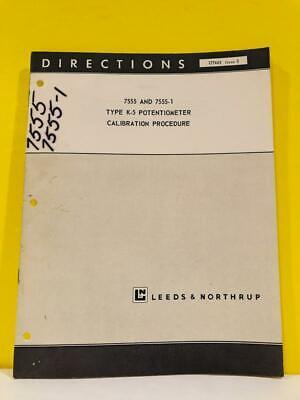 Leeds Northrup 7555 755-1 Type K-5 Potentiometer Calibration Manual