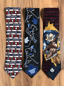 3 Men's Toronto Maple Leafs ties for $15 or $5 per
