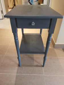 small painted wooden table with small drawer