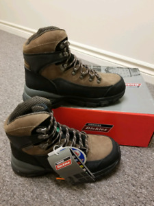 Genuine Leather Dickies Mens Size 8 Steel toed Boots