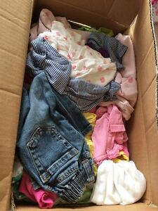Box full girl clothing