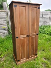 Pine Wardrobe £60