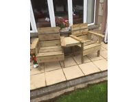 Wooden Love chairs forsale £100