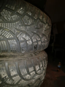 4 General Altimax winter tires and rims