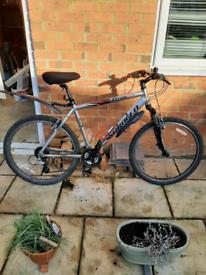 Saracen front suspension mountain bike