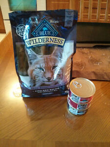 Blue wilderness dry and wet cat food