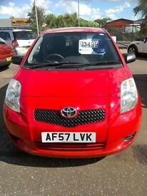 2007 Toyota Yaris 1.0 VVT-i T2 Red 61K FSH Ideal First Car Excellent Condition